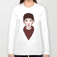 merlin Long Sleeve T-shirts featuring Merlin by Emma Ehrling