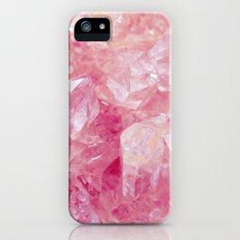 Pink Rose Quartz Crystal iPhone Case