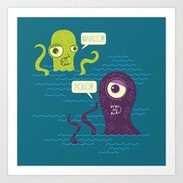 Sea Monster Games Art Print