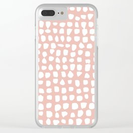 Dots / Pink Clear iPhone Case