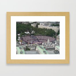 Above Volleyball Framed Art Print