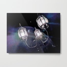 Frosted Lanterns Metal Print