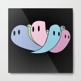 Oh No! The Candy Ghost Gang! Metal Print