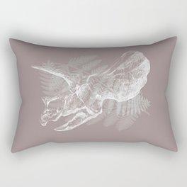 Triceratops Skull in digital technique Rectangular Pillow