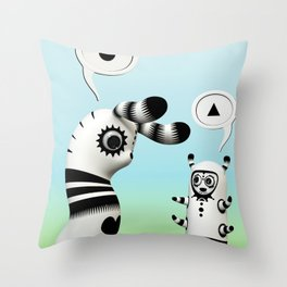 Lally Lama Throw Pillow