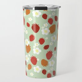 Strawberry Blossom Travel Mug