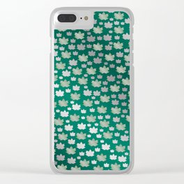green shiny mosaic Clear iPhone Case