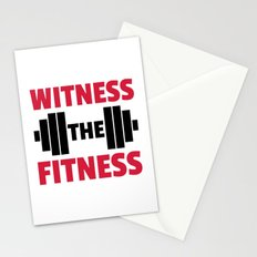Witness The Fitness Gym Quote Stationery Cards