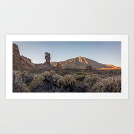 Teide's sunset. Lanzarote, Canary Islands. Art Print