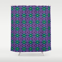 Dark Dahlia Pattern Shower Curtain