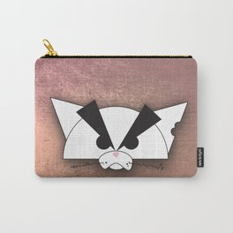 Crabby Cat - white Carry-All Pouch