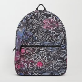 Bohemian Zen Mandala Doodle Watercolor Backpack
