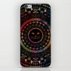 Rainbow Kitty Cat Mandala iPhone & iPod Skin