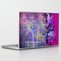 chicago map Laptop & iPad Skins featuring chicago by Bekim ART
