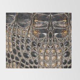 American alligator Leather Print Throw Blanket