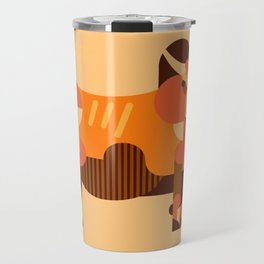 Bull Orange Travel Mug