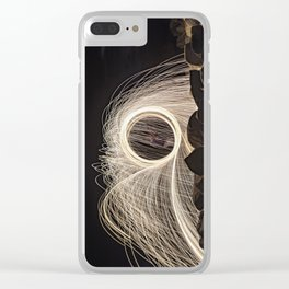 Firespinner #2 Clear iPhone Case