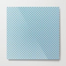 Methyl Blue Polka Dots Metal Print