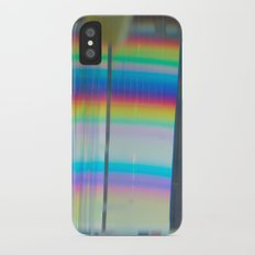 Abstract with rainbow iPhone X Slim Case