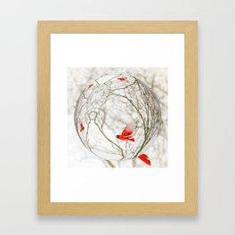 Cardinal Refraction Framed Art Print