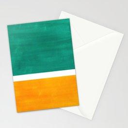 Colorful Bright Minimalist Rothko Minimalist Midcentury Art Marine Green Gold Vintage Pop Art Stationery Cards