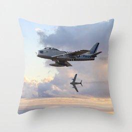 F-86 Sabres Throw Pillow
