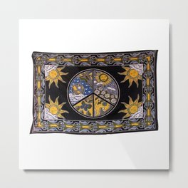 Traditional Sun Face Tapestry Metal Print