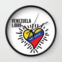 My Venezuelan heart Wall Clock