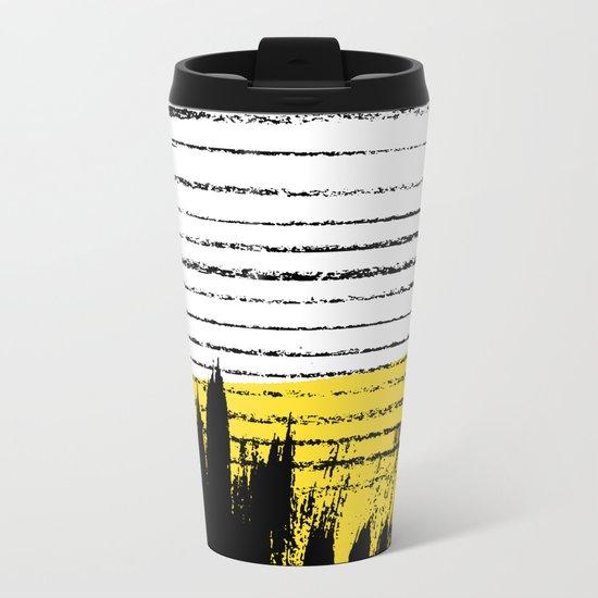 Lines & Strokes 002 Metal Travel Mug