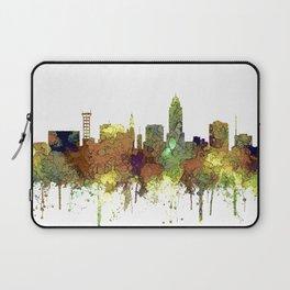 Lincoln, Nebraska Skyline - Safari Buff Laptop Sleeve