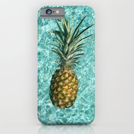 Pineapple Swimming iPhone Case