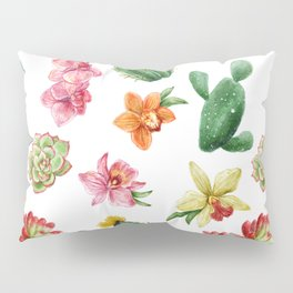 Watercolor Cactus on white background Pillow Sham