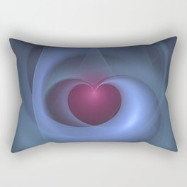 Take Care of My Heart Fractal Rectangular Pillow