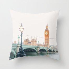 Thames Sunrise - London England Travel Photography Throw Pillow