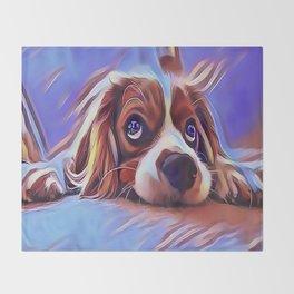 Cavalier King Charles Spaniel Throw Blanket