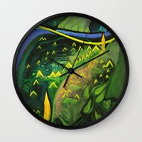 hamlet Wall Clocks featuring Hamlet by SPACE AGE ART