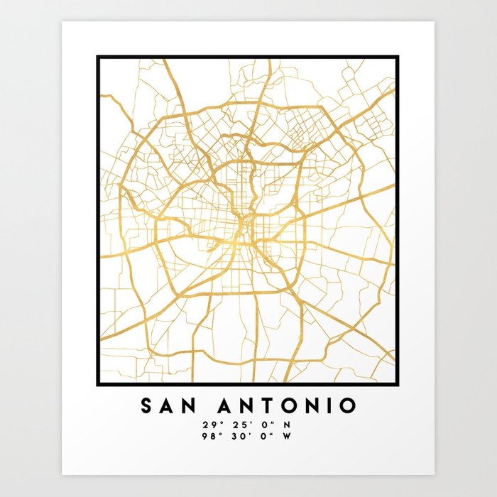 SAN ANTONIO TEXAS CITY STREET MAP ART Art Print by deificusart on bandera city map, lewisville city map, north dallas city map, seattle city map, port st lucie city map, texas map, boston city map, bexar county zoning map, st george city map, minneapolis st paul city map, alamo heights city map, albuquerque city map, santa fe city map, schertz city map, lockhart city map, cabo san lucas city map, greater phoenix city map, richardson city map, el centro city map, pierre city map,
