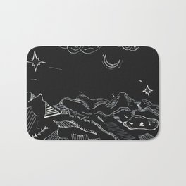 Grandfather Mountain NC Night Sketches Bath Mat