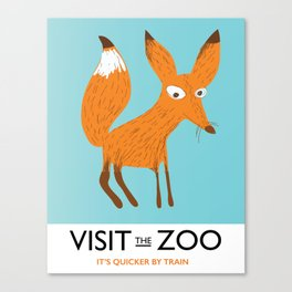 Visit the Zoo Fox edition Canvas Print