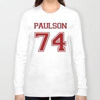 sarah paulson Long Sleeve T-shirts featuring Sarah Paulson Varsity by NameGame