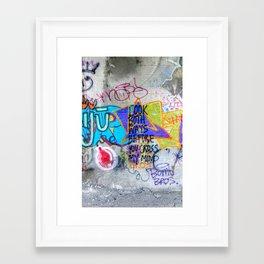 Look Both Ways Framed Art Print