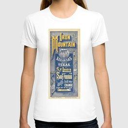 Vintage Iron Mountain Route Railroad Advertising Poster T-shirt