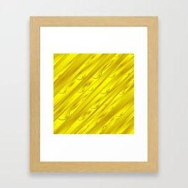yellow abstract pattern in metal Framed Art Print