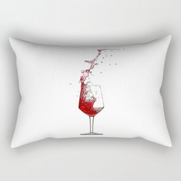 A Splash of Red Wine - Digital Oil Painting Rectangular Pillow