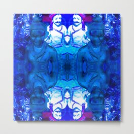 Blue Indian iconography Metal Print