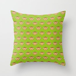 Monty the Monkey Pattern Throw Pillow