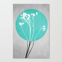 decal Canvas Prints featuring Abstract Flowers 1 by Mareike Böhmer