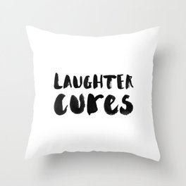 Laughter Cures Throw Pillow