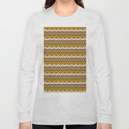 Ethnic african striped pattern with Adinkra simbols. Long Sleeve T-shirt