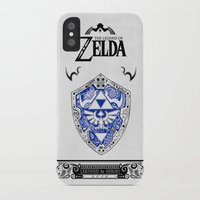 the legend of zelda iPhone & iPod Cases featuring Zelda legend - Hylian shield by Art & Be